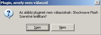 Google Chrome Adobe Flash plugin crash error message