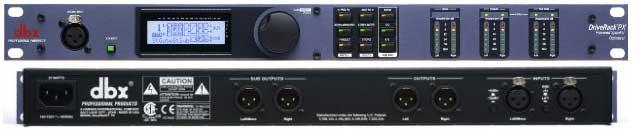 dbx DriveRack PX aktív hangfal optimalizáló processzor