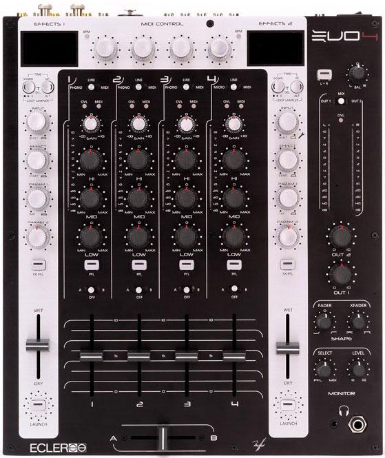 Ecler EVO4 DJ mixer + MIDI controller