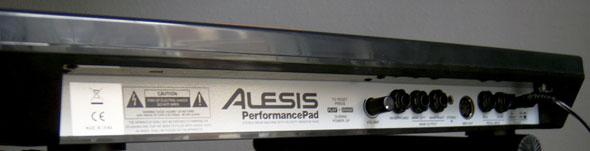 Alesis Performance Pad back