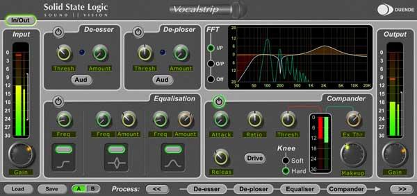 SSL Vocalstrip Duende DSP plugin