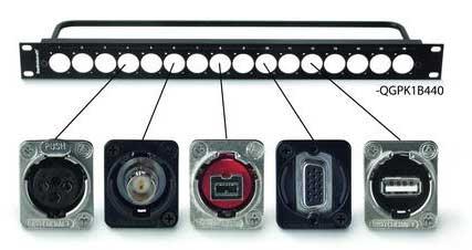 Switchcraft EH szériás audio, video, adat csatlakozók és QG panelek