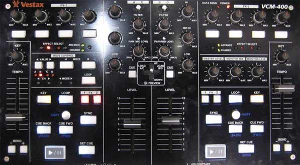 Vestax VCM-400 DJ kontroller NI Traktor-hoz