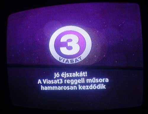 Égő Viasat3 csatorna ID